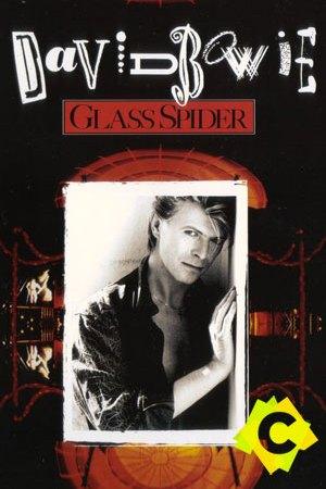 David Bowie - Glass Spider Tour. foto de david bowie en blanco y negro