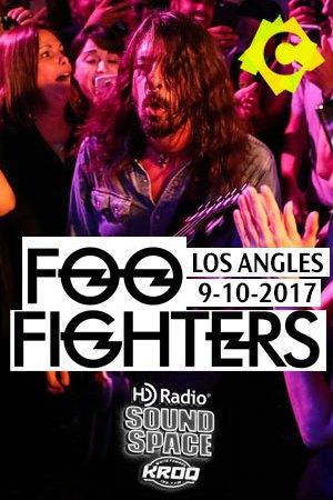 Foo Fighters - HD Radio Sound Space. Dave Grol tocando la guitarra entre el publico.