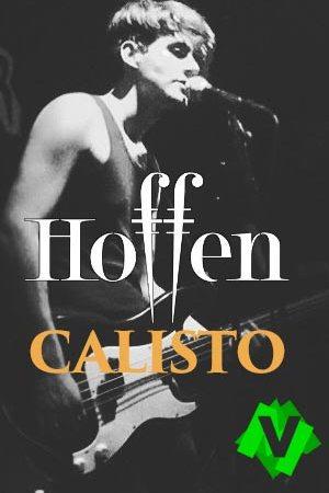 David Lantzeta lider de Hoffen con guitarra de pie en un concierto