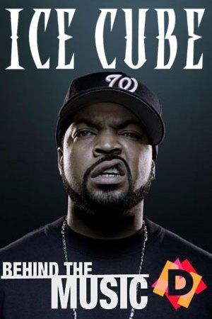 Ice Cube - Behind The Music -ice cube con cara enfadada y gorra en primer plano