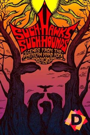 Such Hawks Such Hounds (American Hard Rock Underground) una cara de un emepador chino en tonos rosas y morados.