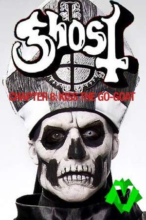 Un esqueleto con la tiara del papa. Ghost - Chapter 8: Kiss The Go-Goat -