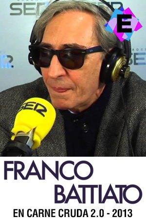 Franco Battiato - Entrevista En Carne Cruda 2.0 2013. Franco Battiato con auriculares en la cadena ser