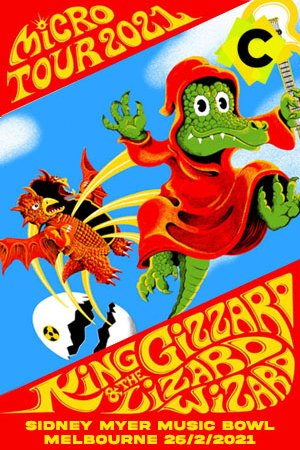 King Gizzard & The Lizard Wizard - Concierto Sidney Myer Music Bowl, Melbourne 2021