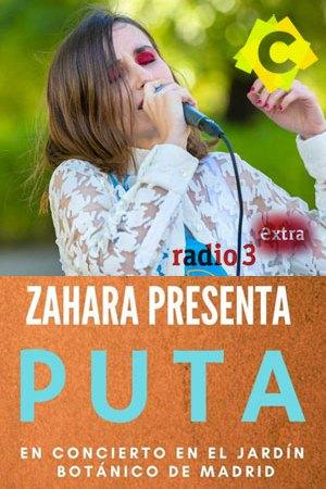Zahara - Concierto Jardín Botánico, Madrid 2021. Zahara cantando en un parque