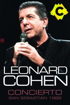 Leonard Cohen - Concierto Teatro Victoria Eugenia, San Sebastián 1988