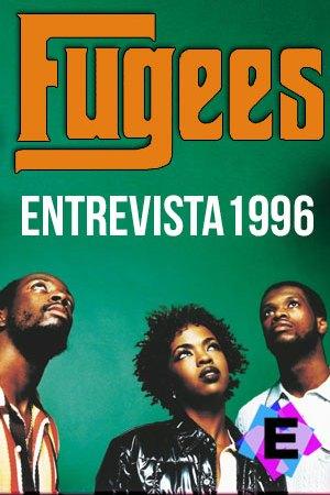 The Fugees - Entrevista 1996. the fugees en un fondo verde