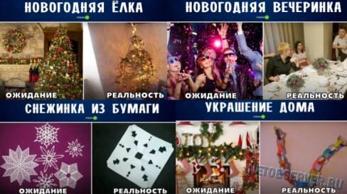 Хорошее новогоднее настроение: ожидание vs. реальность