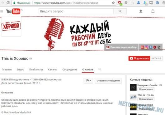 This Is Xorosho - самые популярные каналы на YouTube в России