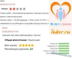 Отзывы о сайте Tabor.ru - logo