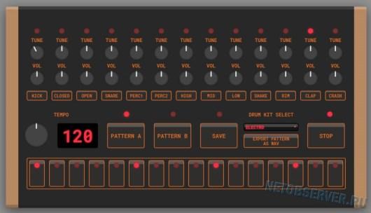 Драм-машина html5drummachine