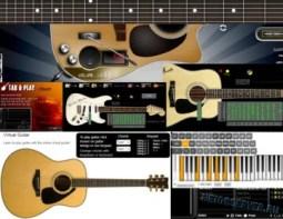 Виртуальная онлайн гитара - logo