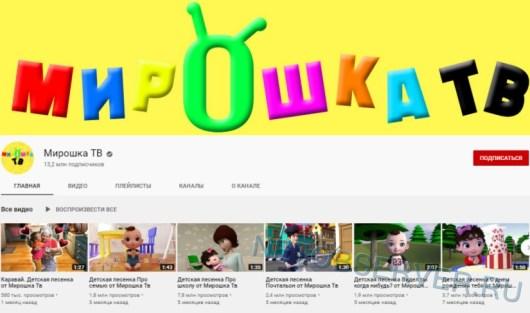 Мирошка ТВ - на 7 месте