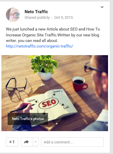 articel about organic traffic