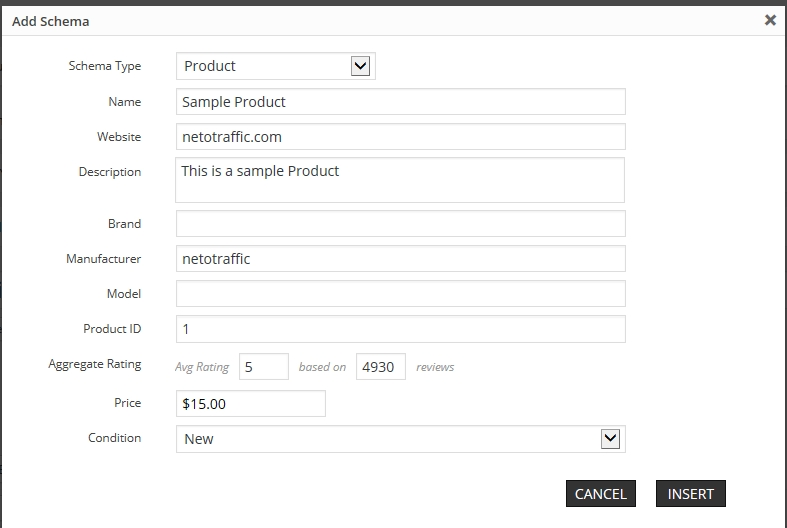 Add product schema