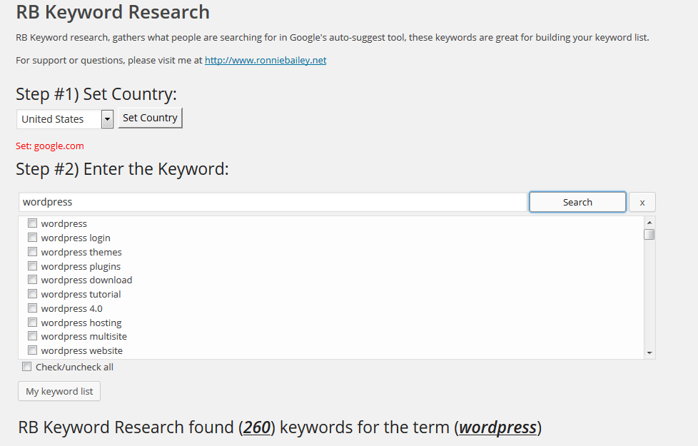 RB Keyword Research