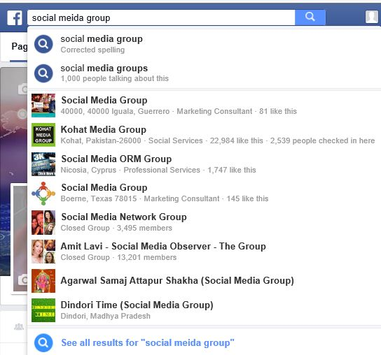 facebook groups search