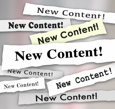 Create new and fresh content