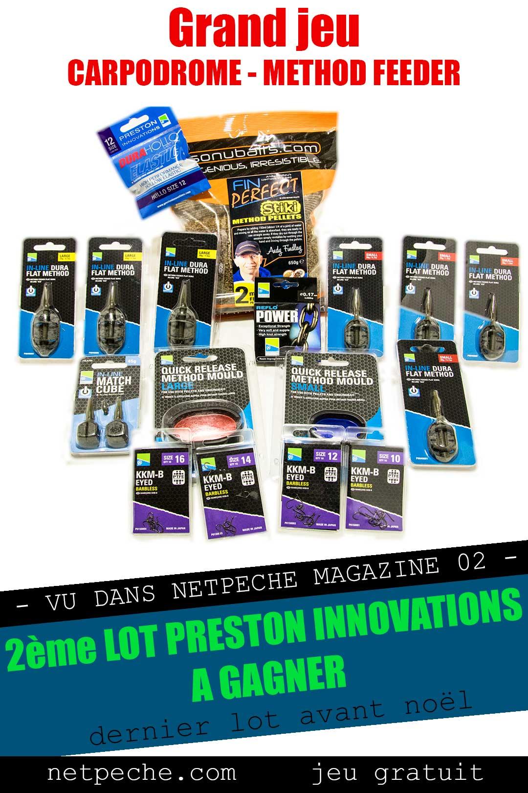 2eme jeu concours netpeche du magazine vidéo numéro 02 en partenariat avec Preston Innovations
