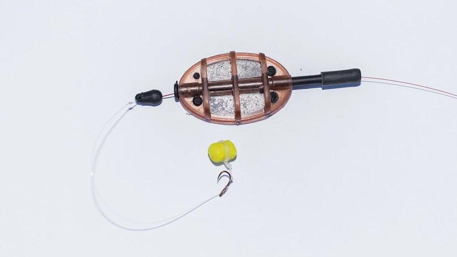 un montage typique pour la pêche au method feeder