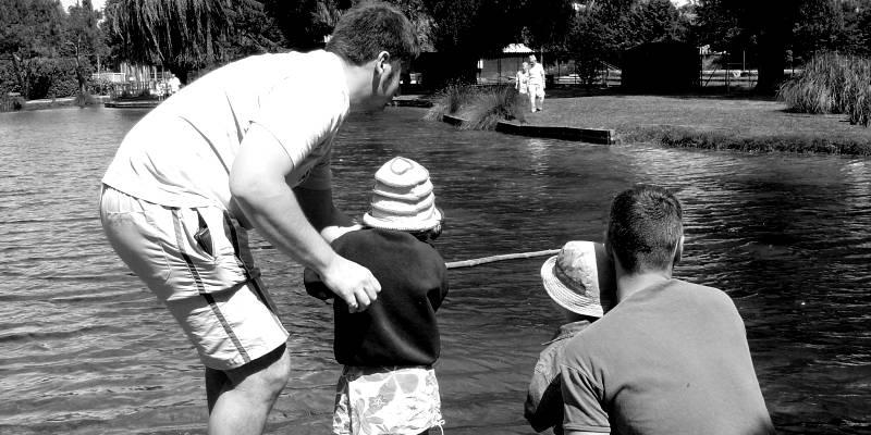 pêche au coup en famille