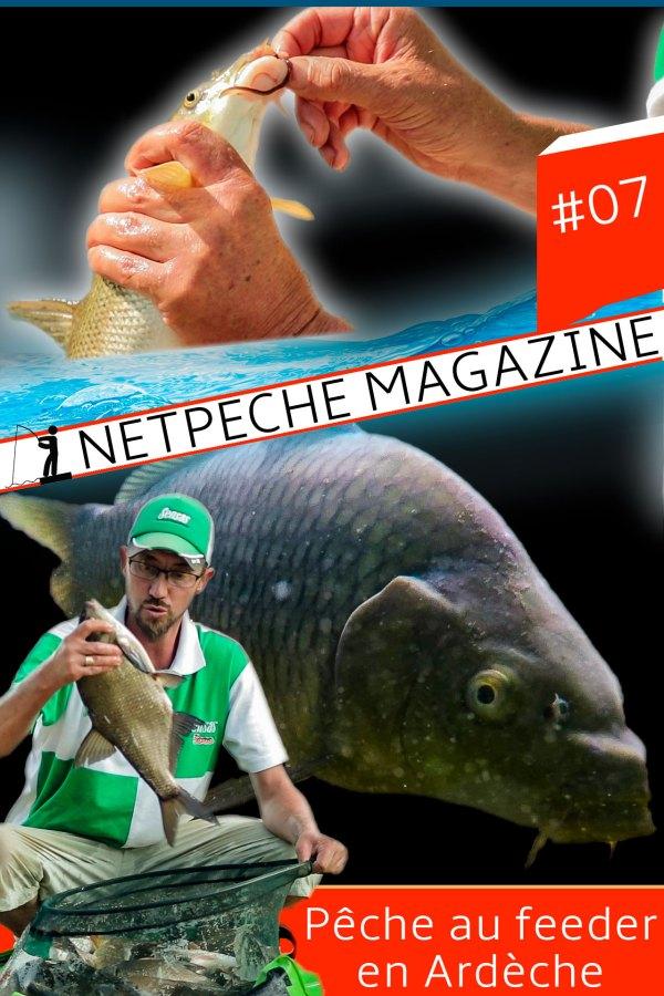 affiche netpeche magazine 7 peche au feeder en ardèche