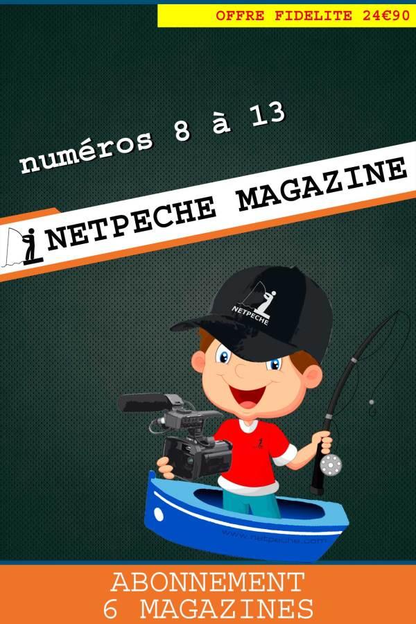 abonnement netpeche magazine numéros 8 à 13