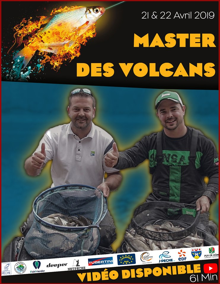 video master des volcans 2019 compétition de pêche au coup, canne, anglaise,feeder au lac des fades à côté de clermont ferrand dans le puy de dome