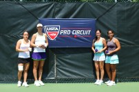 Doubles Champions and Finalists - (left to right) Finalists Lena Litvak and Alexandra Mueller, Champions Jamie Loeb and Sanaz Marand