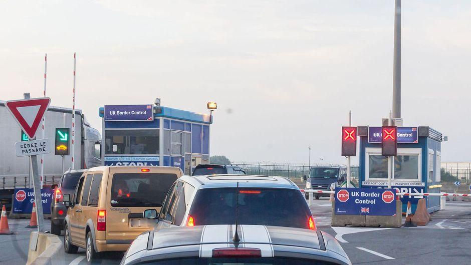 UK border control at French ferry port. PHOTO: Raimond Spekking