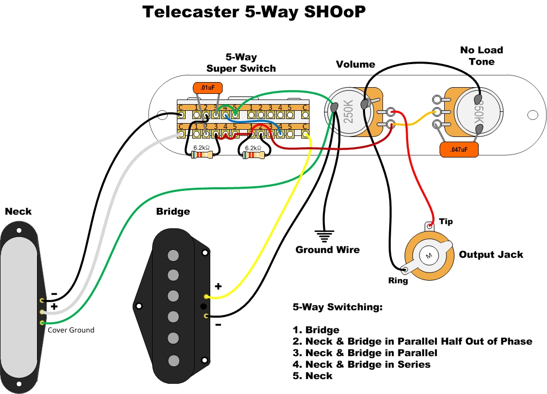 Black Strat Wiring Diagram The David Gilmour
