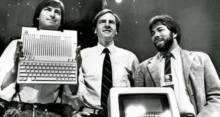 tres fundadores de apple