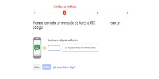móvil para verificar gmail