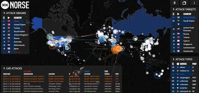 ciberataques mapa