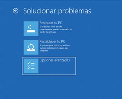 solucionador de problemas windows 10