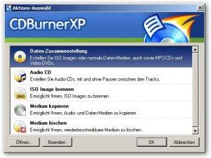 cdburnerxp_aktionsauswahl