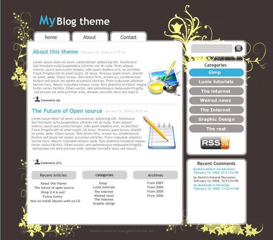 gimp wordpress theme