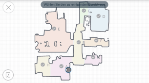 Ecovacs-App-Bereichsreinigung