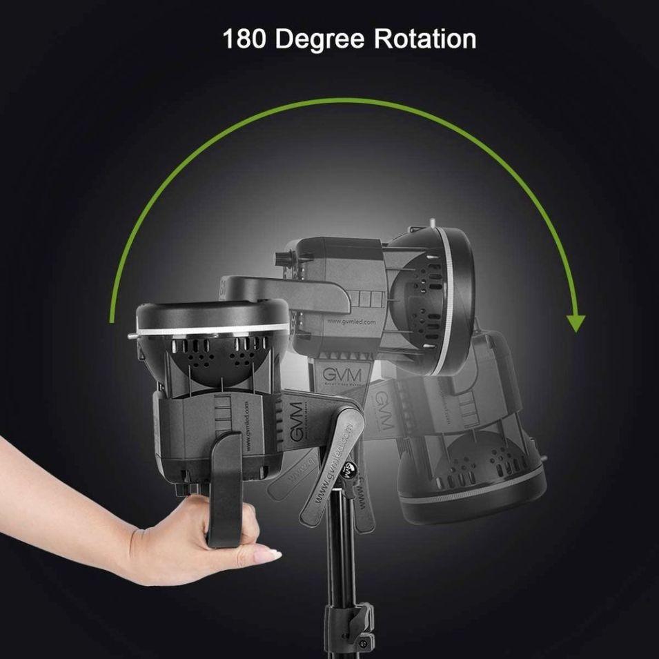 GVM LED Videoleuchte - 180 Grad