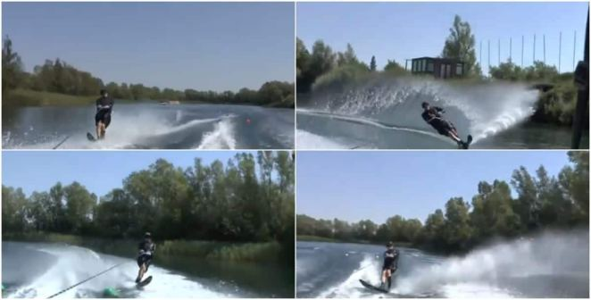 80-year-old man wows social media with incredible jet-skiing skills
