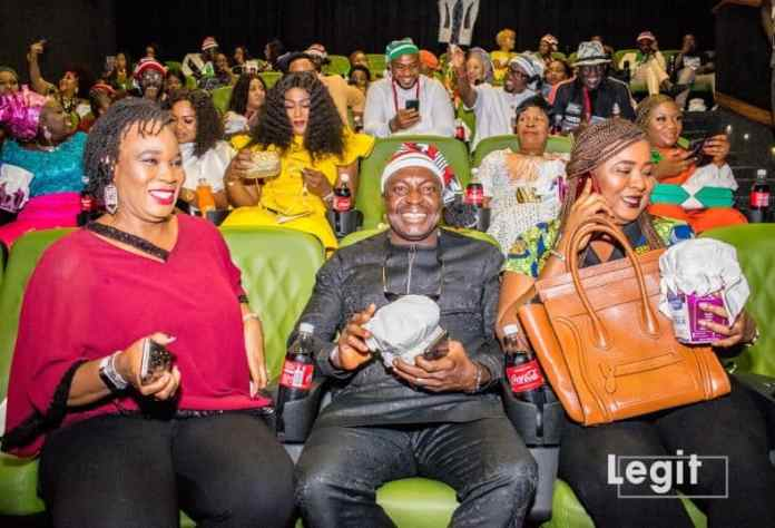 Iyabo Ojo, Alibaba, Toyin Abraham, Korede Bello attend launch of movie premiere in regal traditional attires