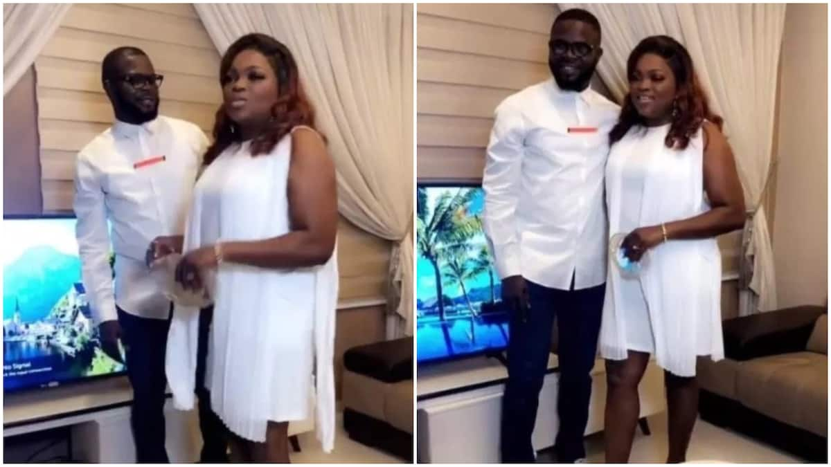 Funke Akindele Bello And Her Husband, Abdulrasheed Bello, Are To Pay A Fine Of N100,000 Each For Violation Of The Restriction Order. The Couple Were Also Sentenced To 14 Days Community Service For N