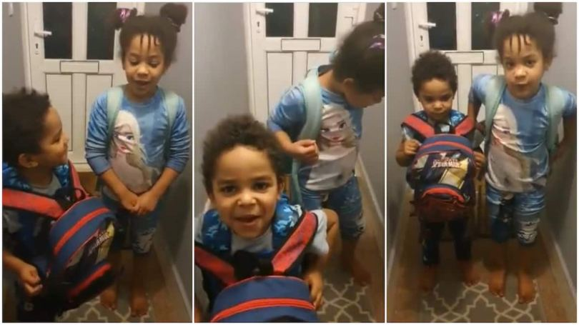 Two abroad based kids pack their bags, say they are going to Nigeria, show mum their passports