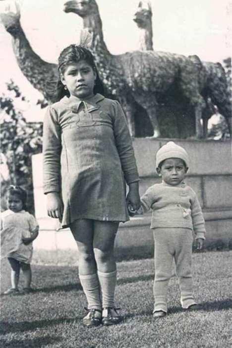 Lina Medina and her son