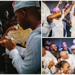 Davido sighted in 'Owambe' Throwback Photos as Elder Sister, Hubby Mark 8th Traditional Wedding Anniversary
