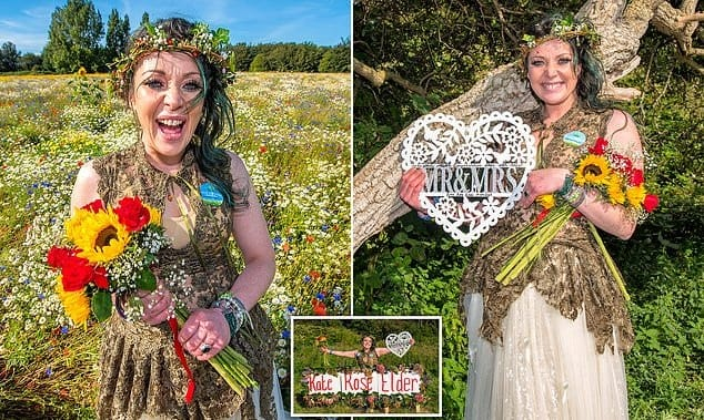 34-year-old woman 'marries' tree, changes her name