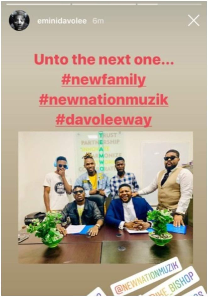 Davolee exits YBNL, fuels rumors of beef with label boss Olamide