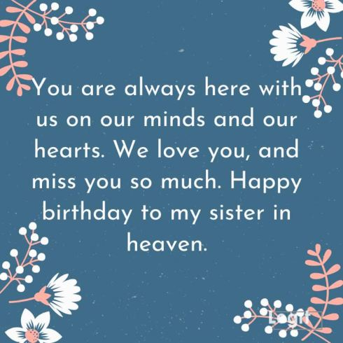 Image result for Happy Birthday In Heaven Sister