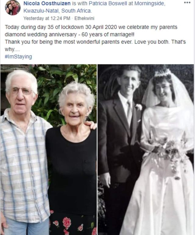 "SA couple goes viral, celebrates 60 years of marriage: ""Staying power"""