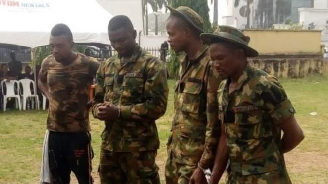Image result for Four fake soldiers arrested in Imo State; two were escorting a politician